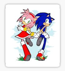 Sonic and Amy-rose Sticker