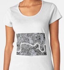 London Map b&w Women's Premium T-Shirt