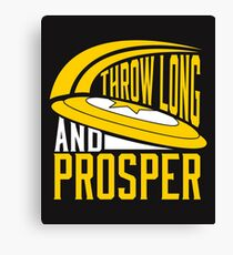 Lienzo Throw Long & Prosper Ultimate Frisbee Design