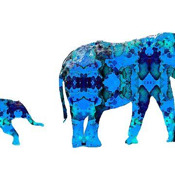 Inkblot Elephants by mrthink