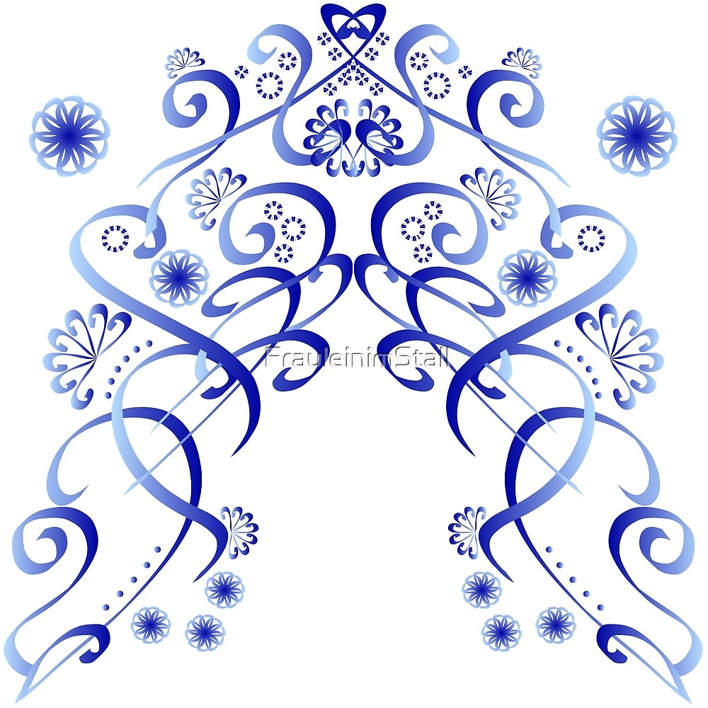 Floral blue by FrauleinimStall