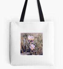 Digital art of yard water iris Tote Bag