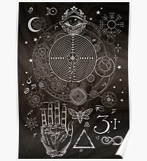 Magic Symbols for a Alchemist Dreamer Poster