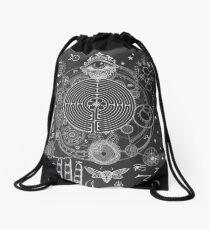 Magic Symbols for a Alchemist Dreamer Drawstring Bag