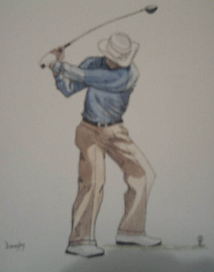 Greg Norman on the Tee. by donaghy