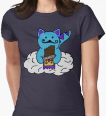space kitten with cosmic crunch Women's Fitted T-Shirt