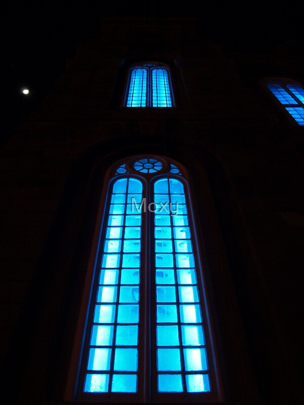 Blue Church Window by Moxy