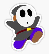 Dark Grey Shy Guy Sticker