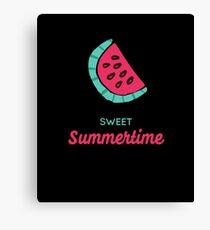 "Cute ""Sweet Summertime""  Canvas Print"
