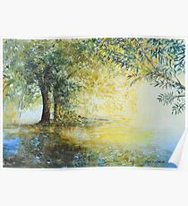 Willow Trees by Mary Faux Jackson Poster