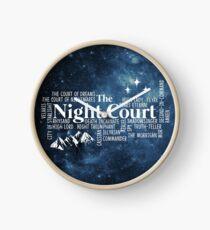Die Nacht Gericht Typografie Uhr
