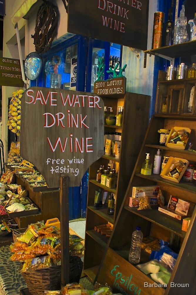 Fira Wine Shop by Barbara  Brown