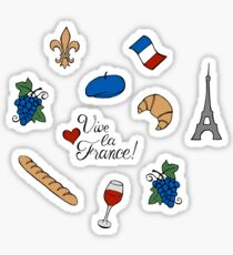 Vive la France! Pattern Sticker