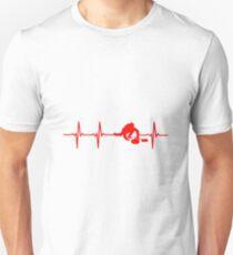 Curling Spieler Puls T-Shirt