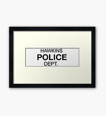 Hawkins Police Framed Print