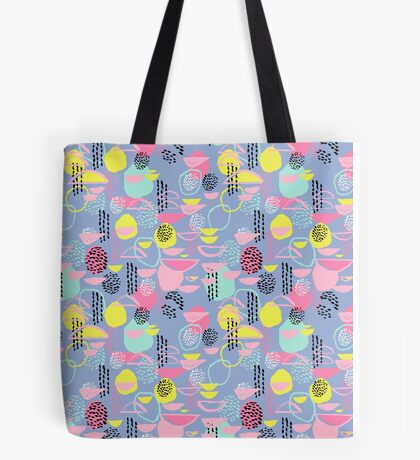 Abstract pattern nursery minimal pattern pink mint pastels and white abstract pattern design by CharlotteWinter Tote Bag