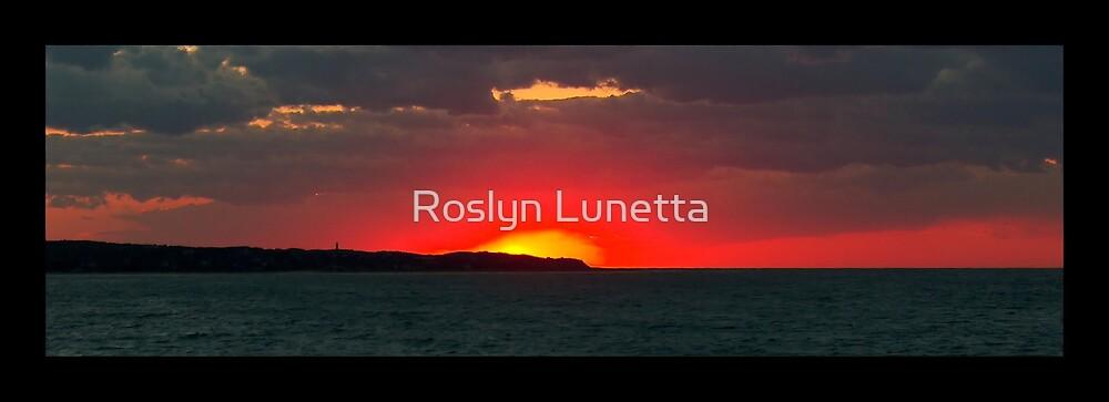 sunset over Aquinnah by Roslyn Lunetta