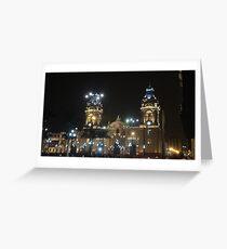 Night Plaza Greeting Card