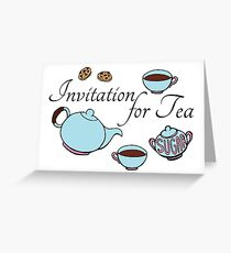 Teatime Pattern Greeting Card