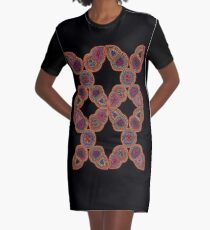 Kuna Mola Pattern  Graphic T-Shirt Dress