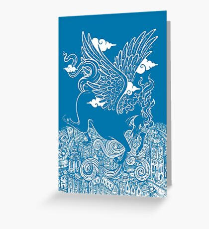 The Last Day of Pegasus Greeting Card