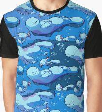 Quagsire y Wooper Pokémon Graphic T-Shirt