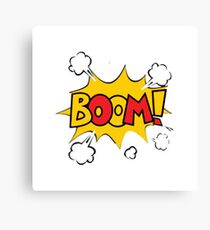 Comic book boom Canvas Print