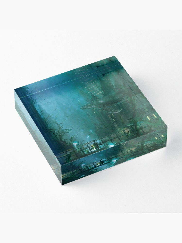 Alternate view of Rapture Walk  Acrylic Block