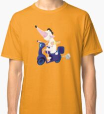 Le French poodle (de Moped Traveller with yummy Baguette) Classic T-Shirt