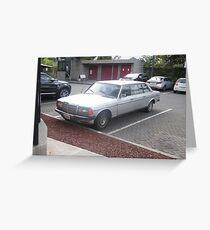 MERCEDES 1984 LIMOUSINE SEDAN 300D W123  LONG WHEELBASE Greeting Card