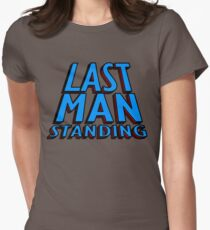 Last Man Standing (blue) Women's Fitted T-Shirt