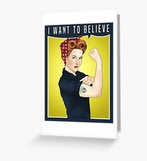 Scully the riveter Greeting Card