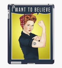 Scully the riveter iPad Case/Skin