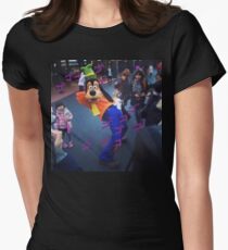 Goofy Menacing (Jojo's Bizarre Adventure) Womens Fitted T-Shirt