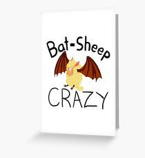 Bat-Sheep Crazy Greeting Card