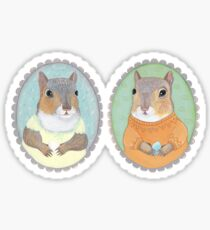 Squirrels and their Eggs Sticker