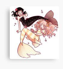 Hooky Mermaids Canvas Print