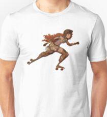 Steampunk Roller Girl Unisex T-Shirt