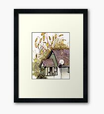 Copper Wiring/ Moss Cottage Framed Print
