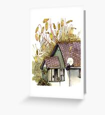 Copper Wiring/ Moss Cottage Greeting Card