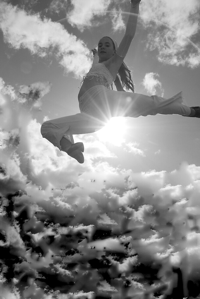 Jumping with joy 1 by Deidre Cripwell