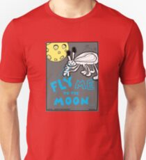 Fly Me To The Moon Comic Alien Creature Monster Design Unisex T-Shirt