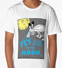 Fly Me To The Moon Comic Alien Creature Monster Design Long T-Shirt