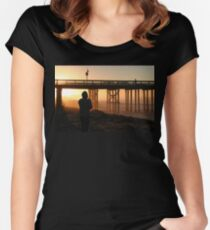 Photographer At Sunset Women's Fitted Scoop T-Shirt