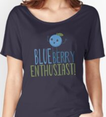 Blueberry Enthusiast Women's Relaxed Fit T-Shirt
