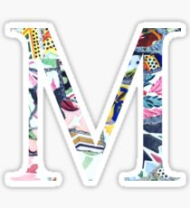 Barcelona Gaudi Mosaic M Mu Sorority Letter Sticker