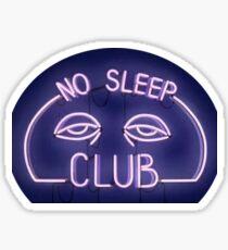 No Sleep Club Sign Sticker