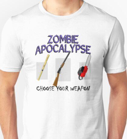 Zombie Apocalypse - Choose your weapon! T-Shirt