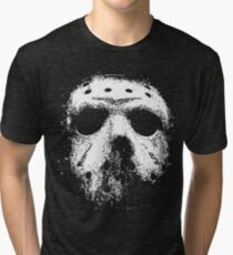 Jason Voorhees Hockey Mask Tri-blend T-Shirt
