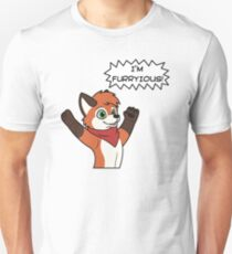 "Fox Dad ""I'M FURRYIOUS"" Unisex T-Shirt"